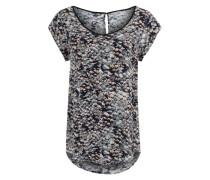 Blusenshirt mit Allover-Print grau / mischfarben