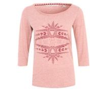 3/4-Arm-Shirt mit Print 'Freedom' pink