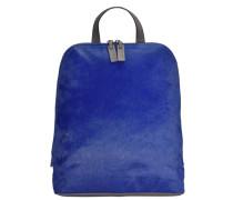 Limoges 4 City Rucksack Leder 32 cm blau / grau