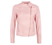 Bikerjacke im Leder-Look rosa