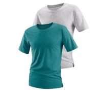 T-Shirts (2 Stück) grün / weiß