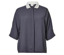 Bluse 3/4-ärmelige blau / weiß