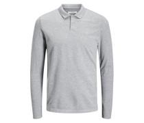 T-Shirt mit langen Ärmeln Minimales graumeliert