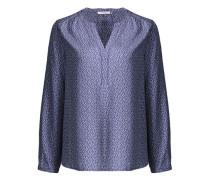 Bluse 'Francesca spot' violettblau / weiß