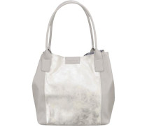 Shopper 'Miri Freeze' beige / silber