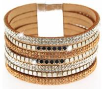 Armband 'Rising sun' braun / silber