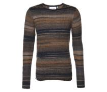 Pullover mit Streifen-Muster 'Ero' schwarz / grau