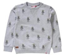 Sweatshirt für Jungen hellgelb / graumeliert / schwarz / naturweiß