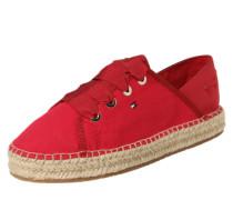 Espadrille 'Sneaker' rot