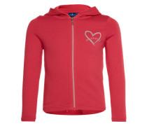 Sweatjacke 'sweet hoodie jacket' hellrot