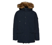 Parka 'Anchorage' navy / schwarz