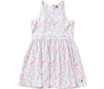 Kinder Jerseykleid rosa / weiß