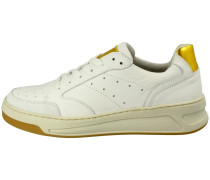 Sneaker offwhite / gold