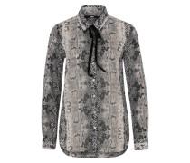 Bluse 'Pimode' grau / schwarz