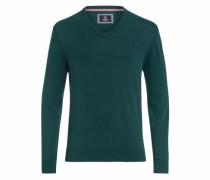 V-Ausschnitt-Pullover grün