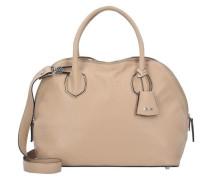 Handtasche Leder 34 cm beige