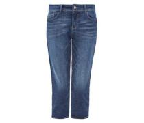 Smart Capri: Stretch-Jeans blue denim