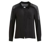 Feminines Spitzen Hemd schwarz