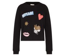 Patches Sweater schwarz