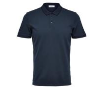 Klassisches Poloshirt nachtblau
