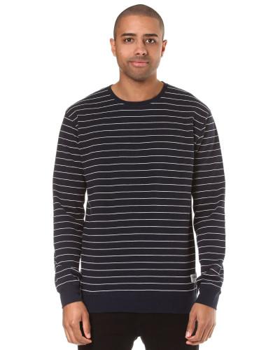 Interstripe Sweatshirt navy / weiß