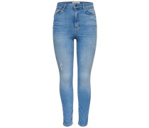 Skinny Fit Jeans 'Studio high waist ankle' blau