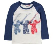 Langarmshirt 'Ninjago' für Jungen blau / rot / wollweiß