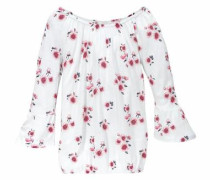 Carmenshirt rosa / weiß