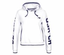 Kapuzensweatshirt indigo / weiß