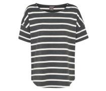 Shirt 'jia' dunkelgrau / weiß