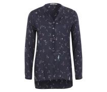 Bluse mit Musterprint blau
