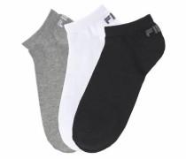 Sneaker Socken (3 Paar) grau / schwarz / weiß