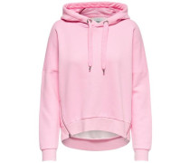 Einfarbiges Sweatshirt rosa