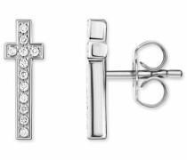 Paar Ohrstecker 'Kreuz' silber