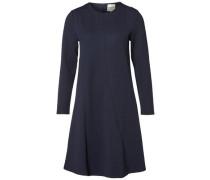 A-förmiges Kleid mit langen Ärmeln nachtblau