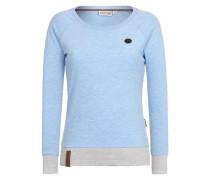Female Sweatshirt 'Laufhaus Tralala' blaumeliert / hellgrau