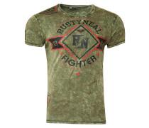 T-Shirt Crewneck mit coolem Print