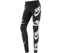 Leggings Damen schwarz / weiß