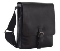 Scott Umhängetasche Leder 30 cm Laptopfach schwarz