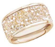 Ring mit Swarovski Kristallen gold