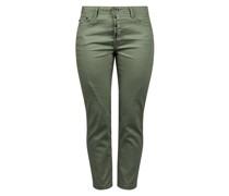 Straight-Jeans 'Elbja' oliv