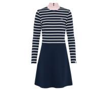 Kleid in Minilänge blau / rosa / weiß