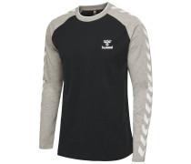 T-Shirt L/S grau / weiß / schwarz