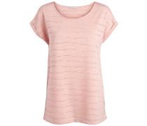 Perforiertes T-Shirt pink