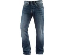 Cash Straight Fit Jeans Herren blau