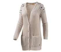 Strickjacke Damen beige