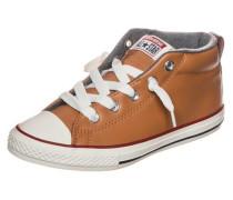 Chuck Taylor All Star Street Mid Sneaker Kinder braun