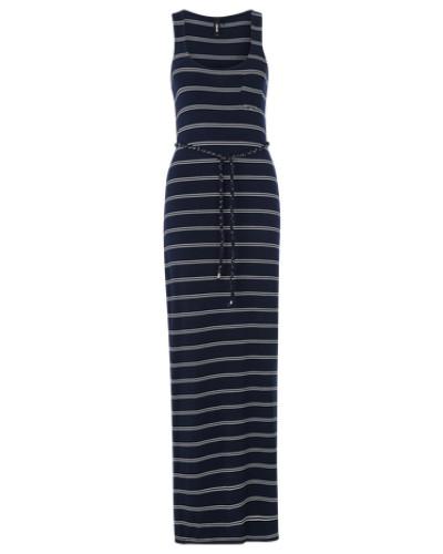 Maxikleid 'Bente Stripe' navy / weiß