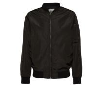 Jacke 'Bomber jacket' schwarz