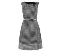 Etuikleid mit graphischem Muster schwarz / grau